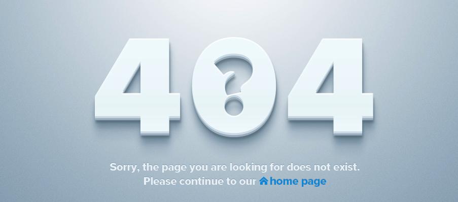 L'erreur 404 : Page not found – Les plus belles erreurs